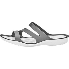 Crocs Swiftwater Sandals Women Smoke/White